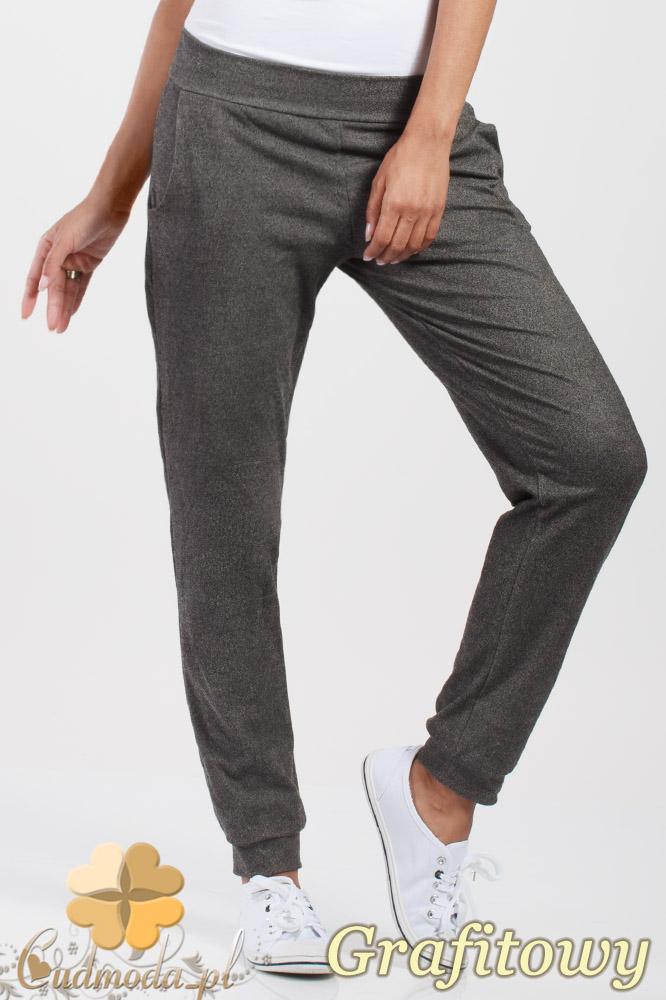 CM1016 Elastyczne spodnie dresowe Paulo Connerti - grafitowe