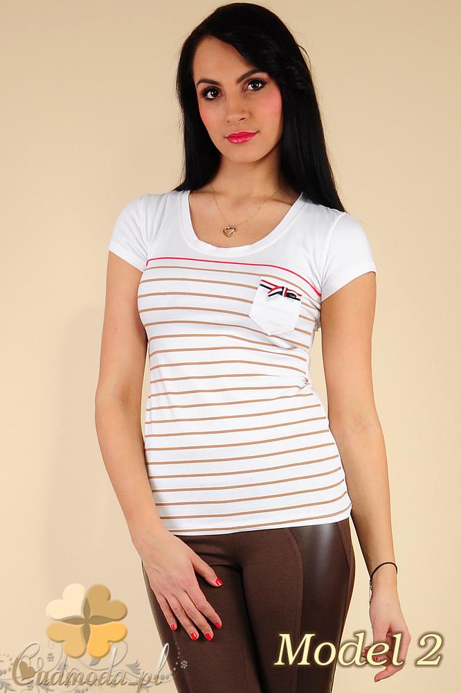 CM0183 Damski t-shirt w paski - model 2