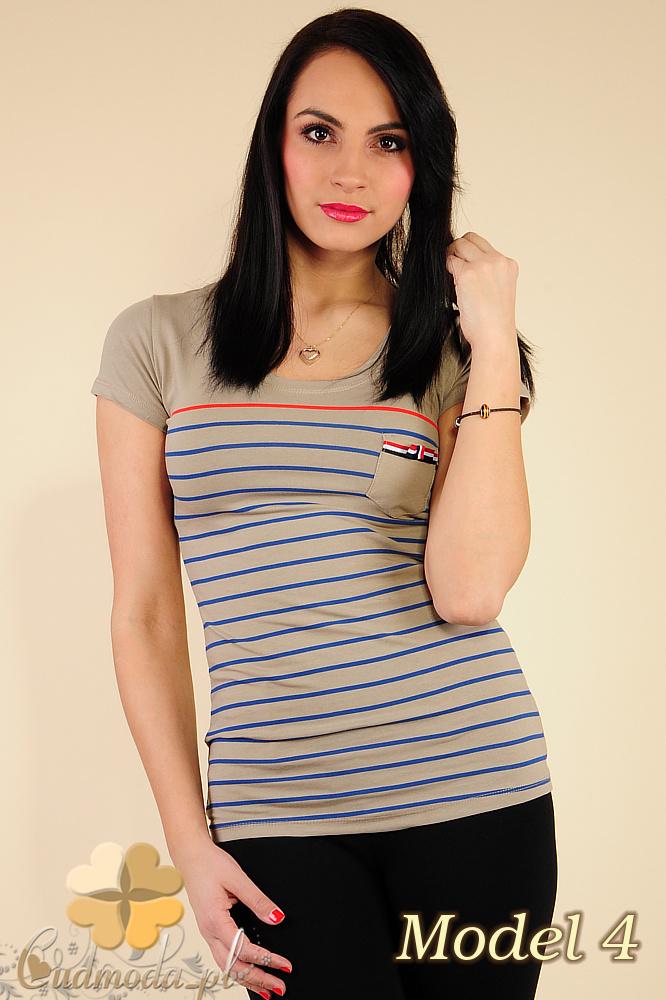 CM0183 Damski t-shirt w paski - model 4