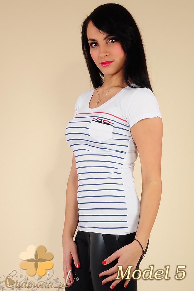 CM0183 Damski t-shirt w paski - model 5