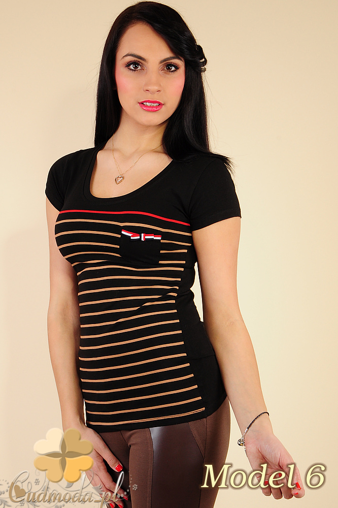 CM0183 Damski t-shirt w paski - model 6