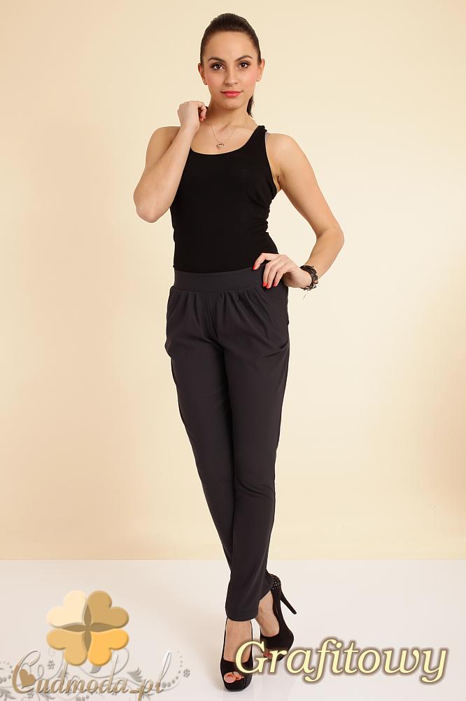 CM0196 Włoskie spodnie pumpy legginsy - grafitowe