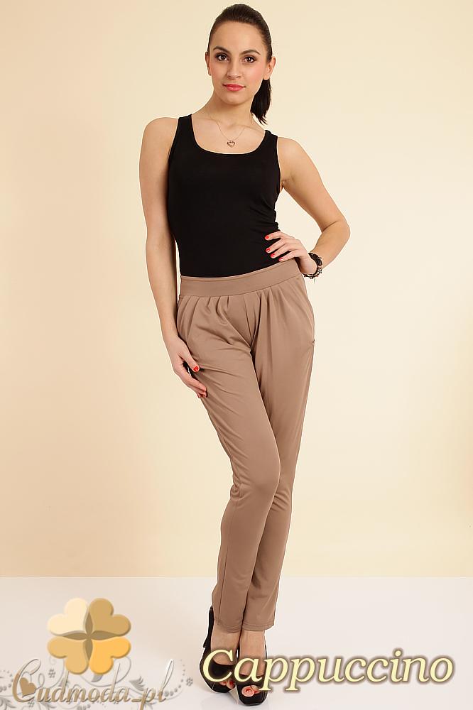 CM0196 Włoskie spodnie pumpy legginsy - cappuccino