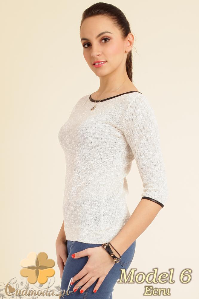CM0199 Modny ażurowy sweterek z modnymi kokardkami na plecach - model 6