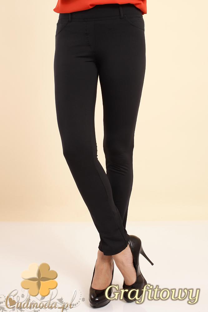CM0215 Włoskie elastyczne legginsy spodnie NILITÂŽ SOFTEX - grafitowy