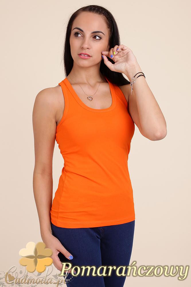 CM0046 Klasyczna bawełniana damska bokserka - pomarańczowa