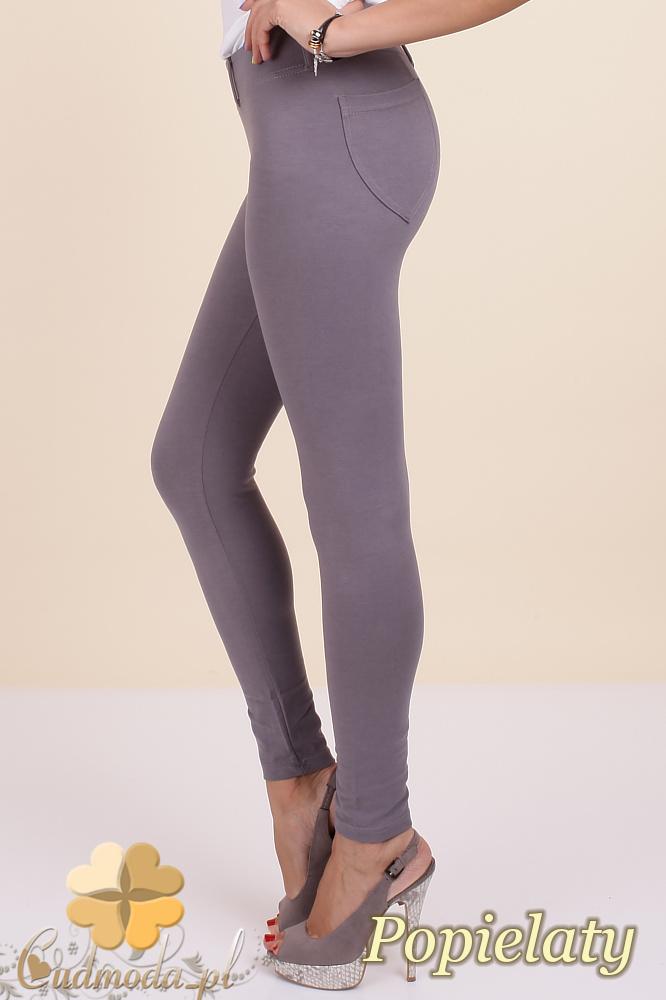 CM0034 Włoskie klasyczne getry legginsy z kieszeniami - popielate