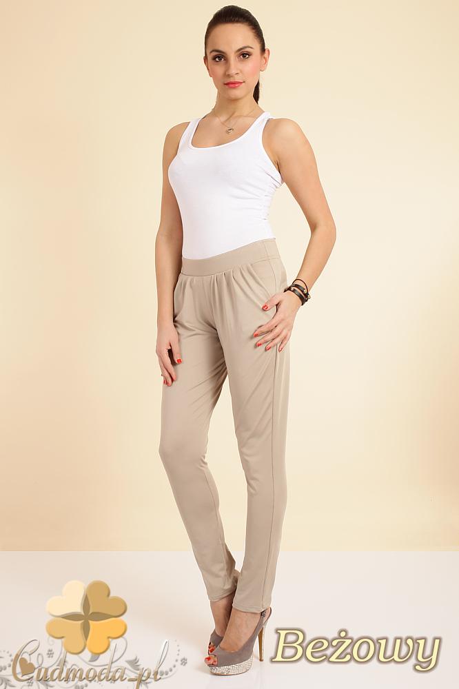 CM0196 Włoskie spodnie pumpy legginsy - beżowe