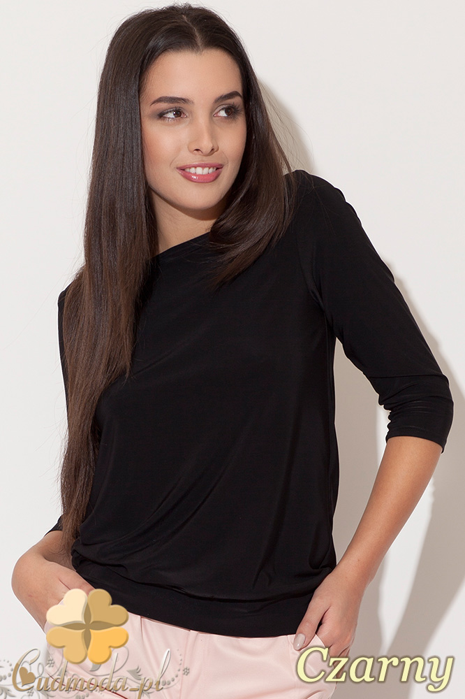 CM0456 KATRUS K091 Bluzka damska z odkrytymi plecami - czarna