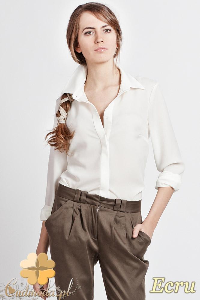 CM0771 LANTI K101 Klasyczna koszula damska z krytymi guzikami - ecru