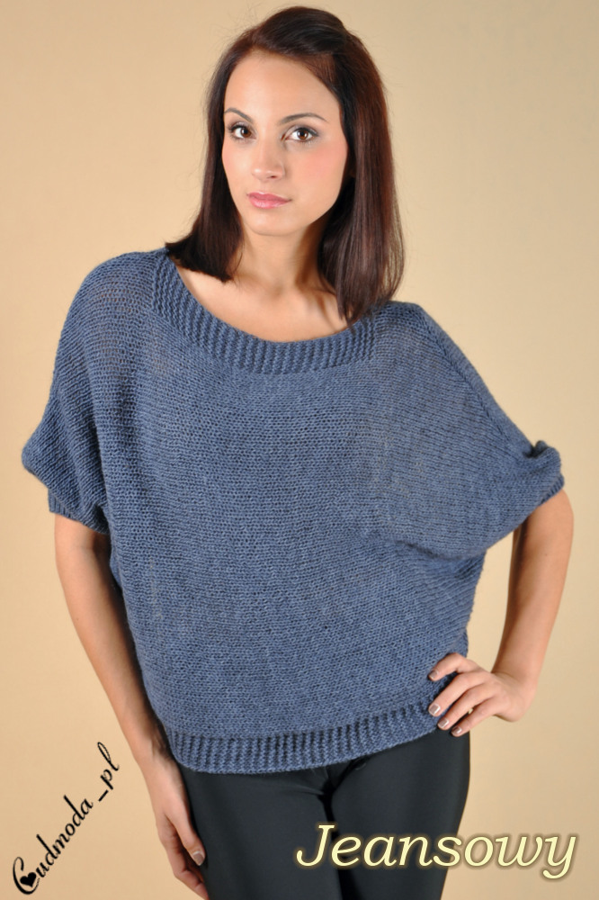 WYCOFANY Luźny sweter nietoperz