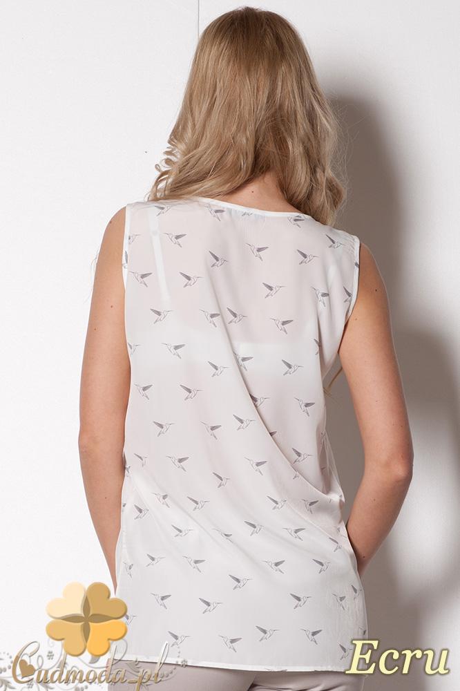 CM0780 FIGL M253 Zwiewna bluzka damska bez rękawów - ecru