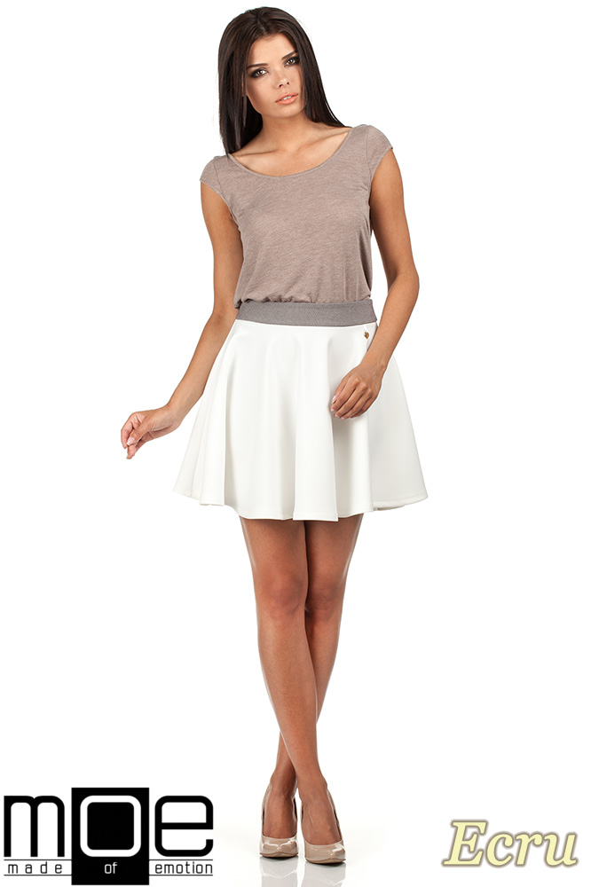 CM0357 Elegancka spódniczka z koła - ecru