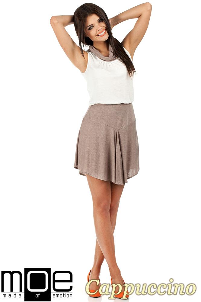 CM0813 Letnia sukienka z mini golfikiem - cappuccino