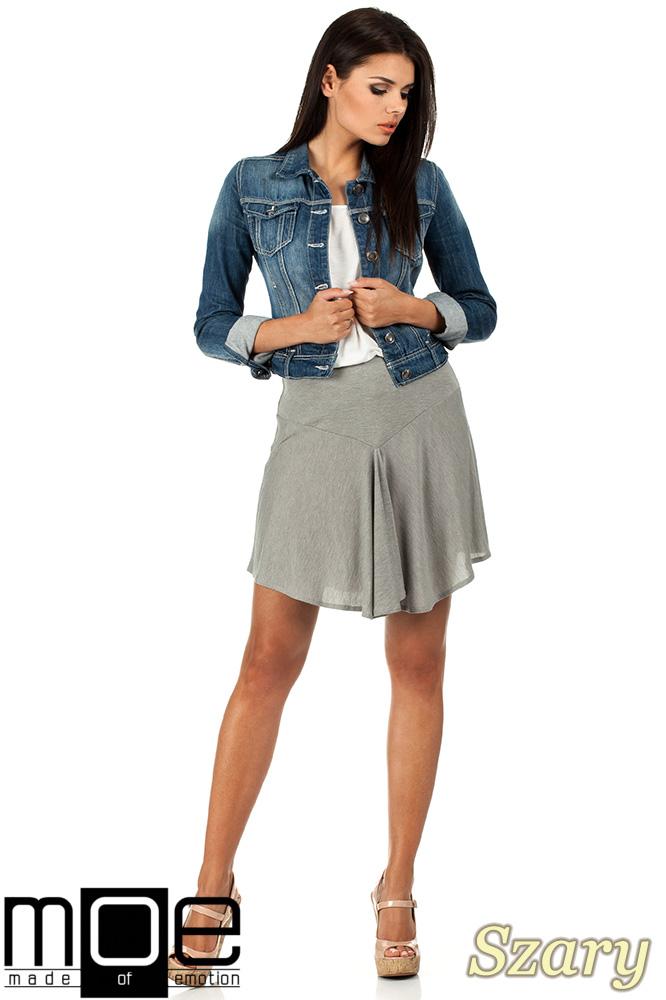 CM0816 Asymetryczna spódniczka idealna na lato - szara