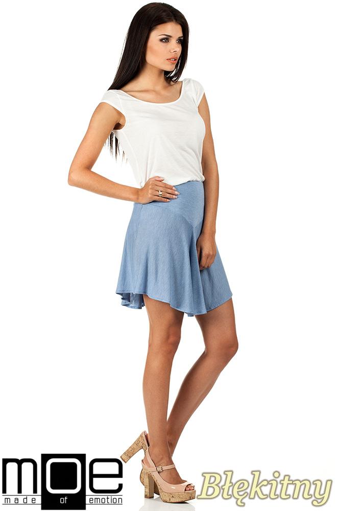 CM0816 Asymetryczna spódniczka idealna na lato - błękitna