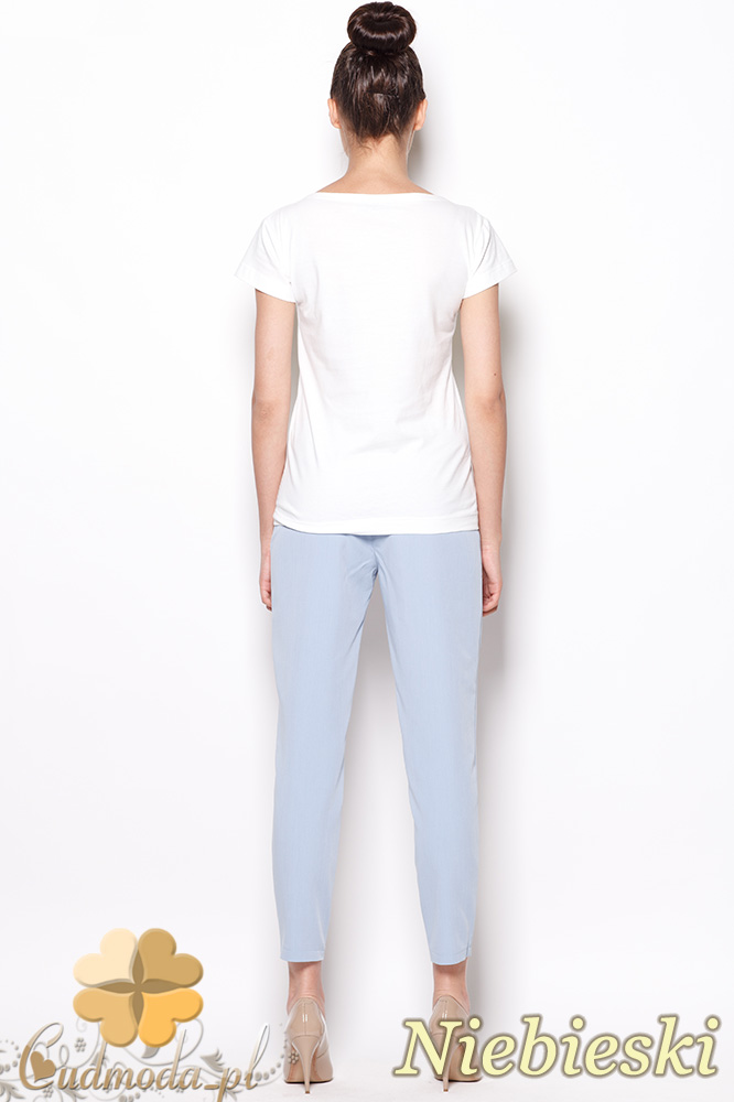 CM0913 FIGL M293 Eleganckie spodnie damskie 7/8 - niebieskie