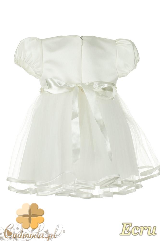 MA073 Urocza sukienka dziecięca idealna na chrzest - ecru