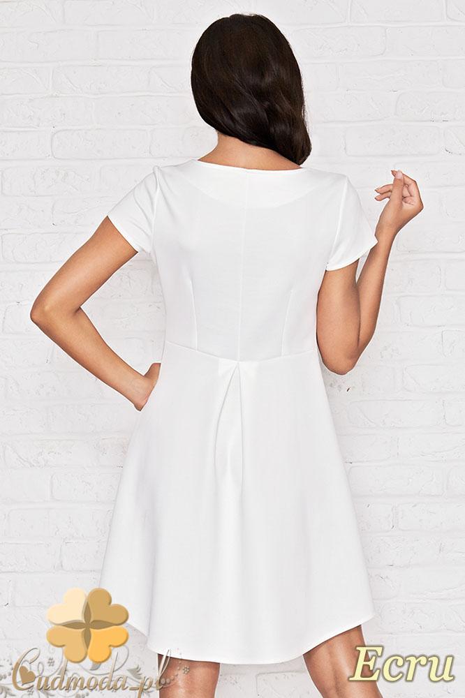 CM0950 INFINITE YOU M003 Asymetryczna sukienka tunika - ecru