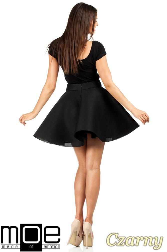 CM0657 Rozkloszowana spódniczka balerinka - czarna