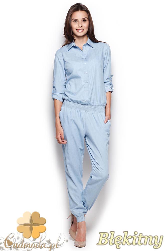 CM0974 FIGL M314 Spodnium z jeansowej tkaniny - błękitny