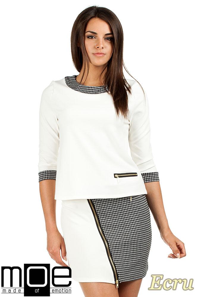 CM0980 Trapezowa bluzka pepito - ecru