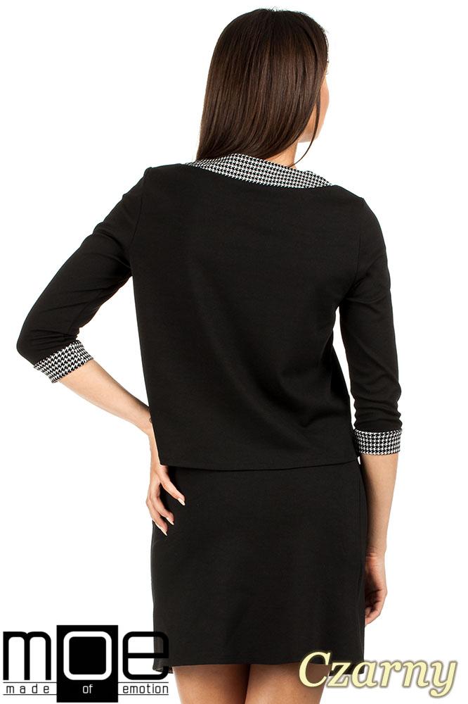 CM0980 Trapezowa bluzka pepito - czarna