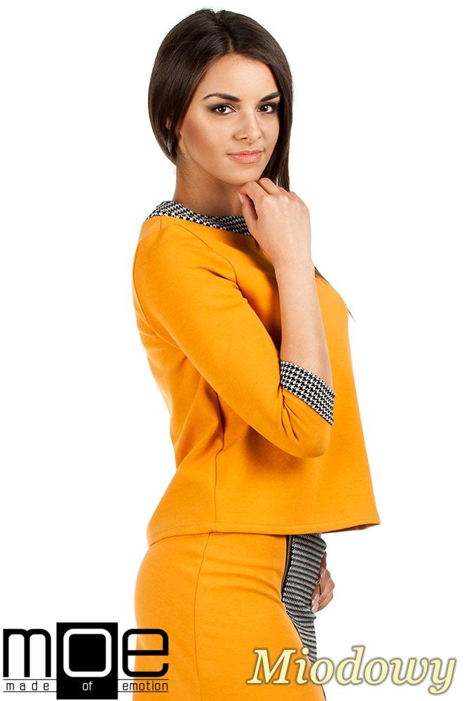 CM0980 Trapezowa bluzka pepito - miodowa