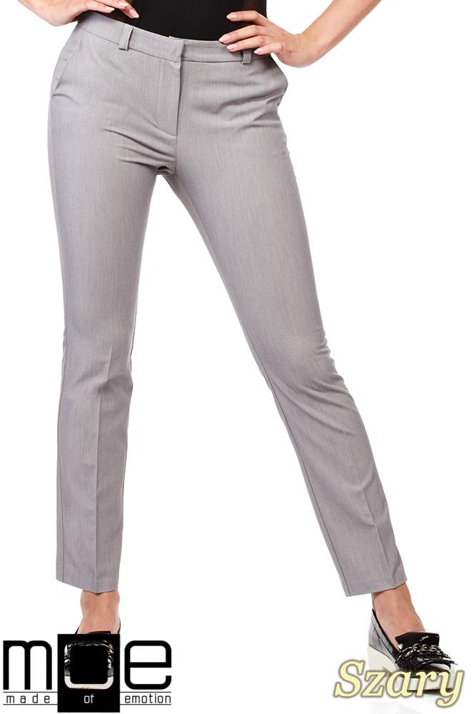 b6a4ab14076f0b CM1008 Eleganckie spodnie damskie na kant z ozdobnymi zameczkami na  kieszeniach - szare ...