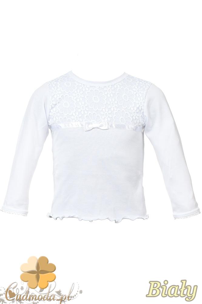 MA083 Dziewczęca bluzka z długim rękawem i koronką na górze