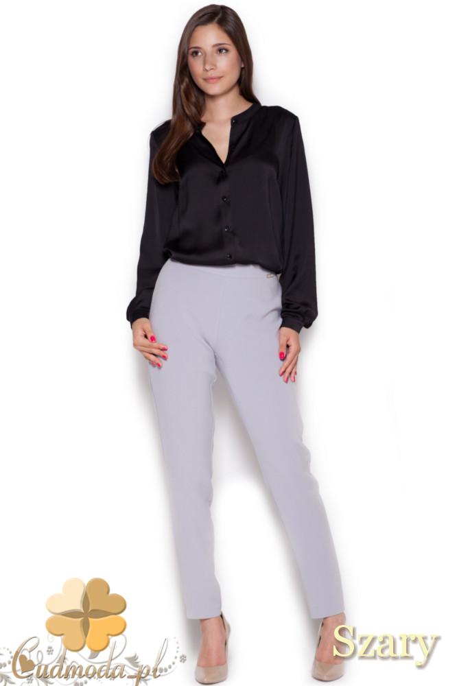 CM1044 Klasyczne spodnie damskie rurki - szare