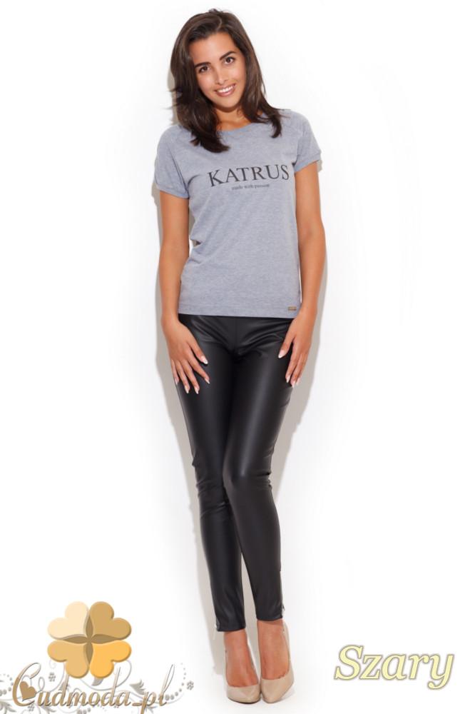 CM1060 Klasyczny damski t-shirt z krótkim rękawem - szary
