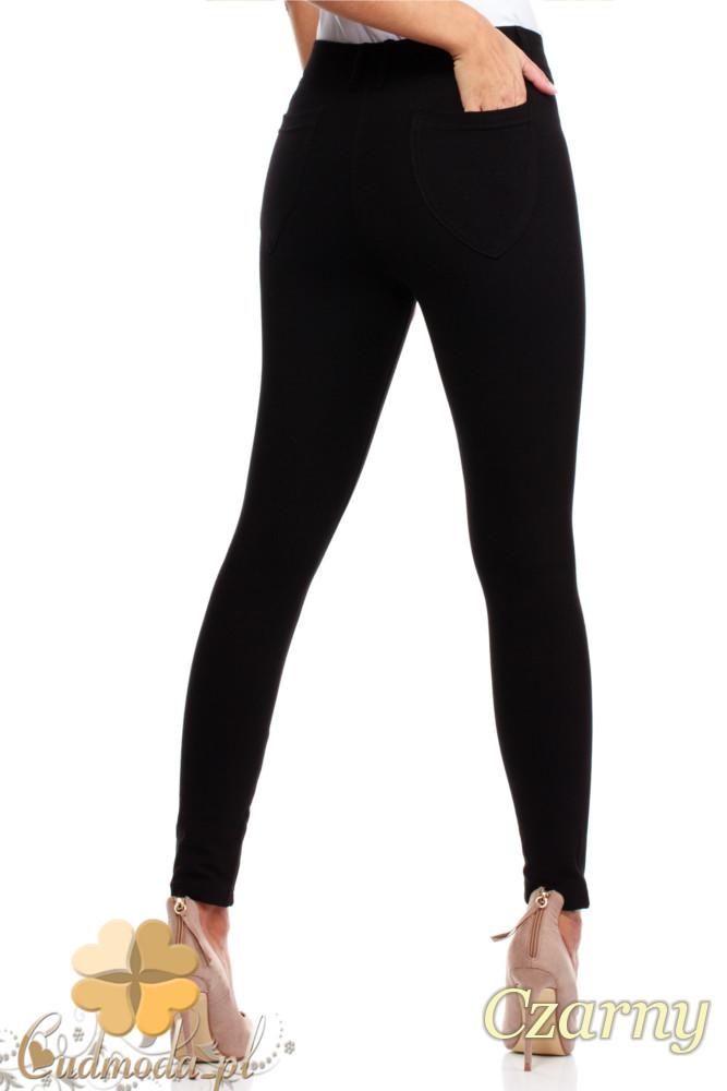 CM0034 Włoskie klasyczne getry legginsy z kieszeniami - czarne