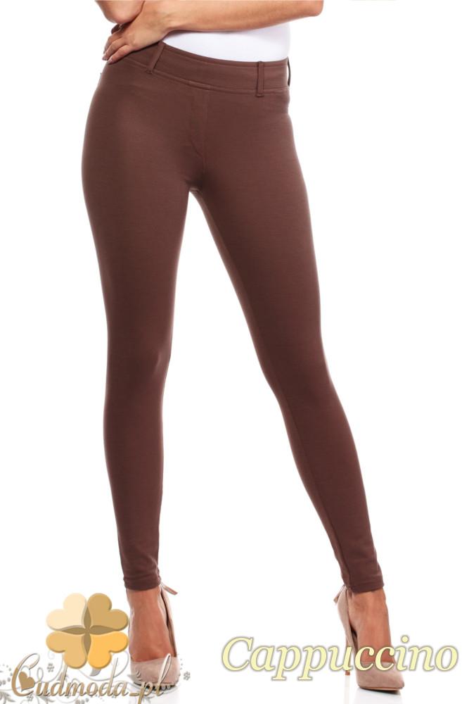 CM0034 Włoskie klasyczne getry legginsy z kieszeniami - cappuccino