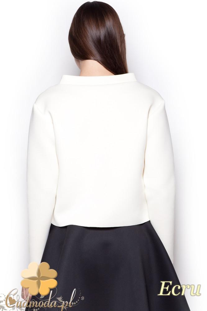 CM1190 Damska bluza piankowa na stójce - ecru