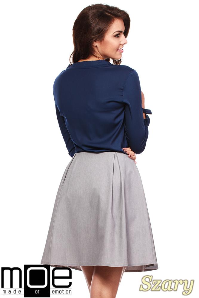 CM1151 Klasyczna kobieca spódniczka z podszewką - szara