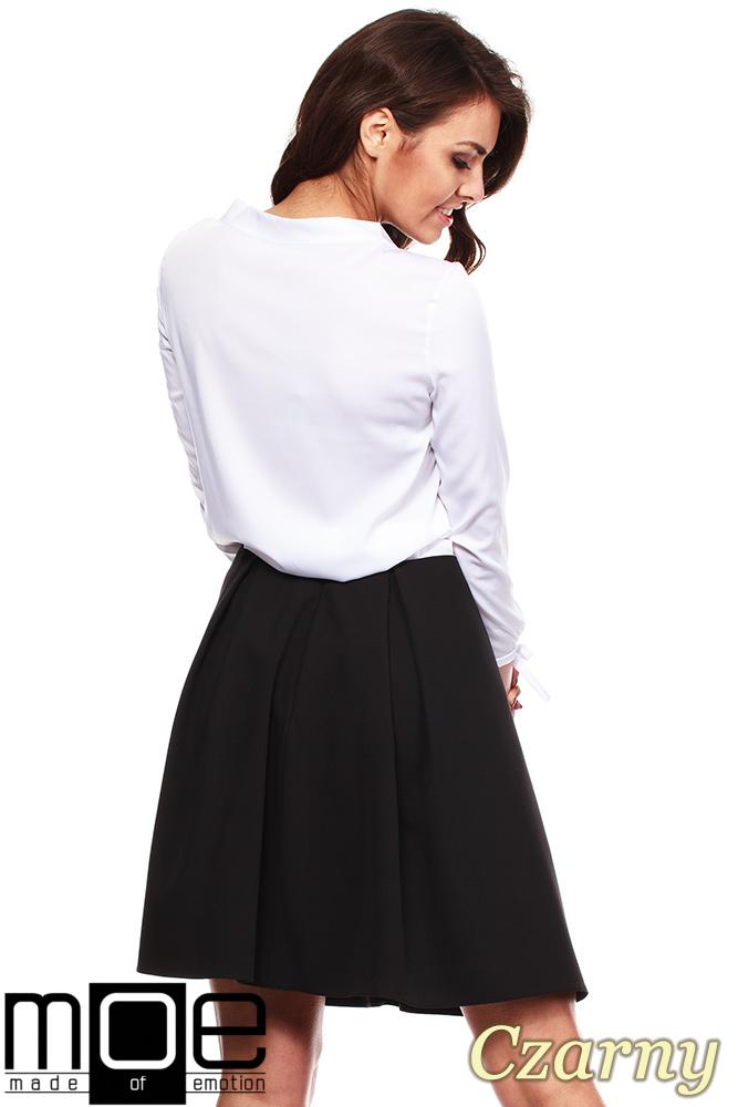 CM1151 Klasyczna kobieca spódniczka z podszewką - czarna