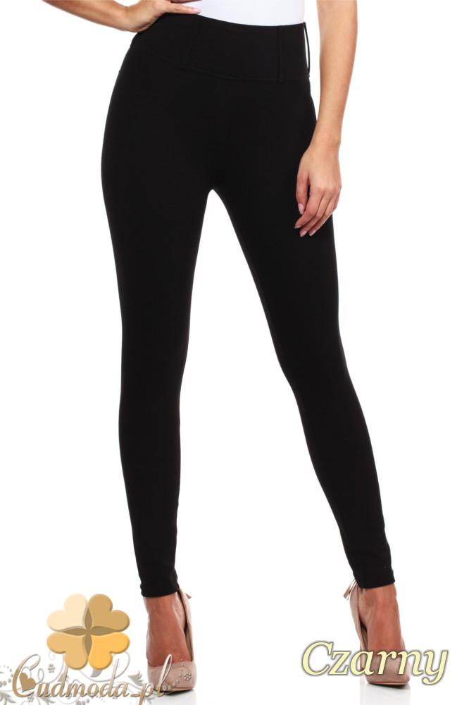 CM0035 Włoskie, klasyczne legginsy z wysokim stanem - czarne
