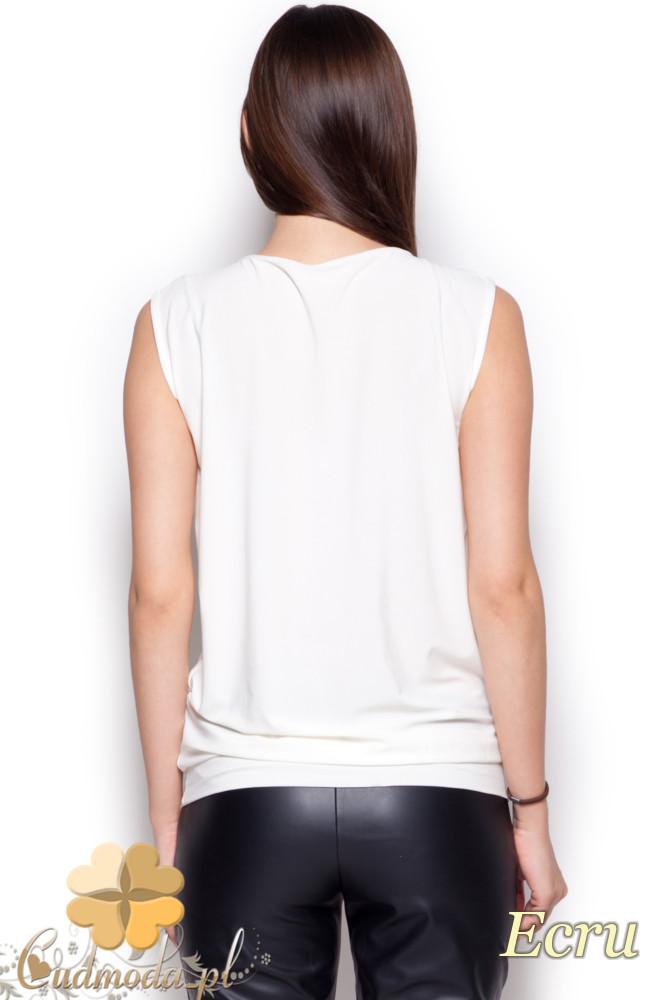 CM1216 Półprzezroczysta bluzka damska szyfonowa - ecru