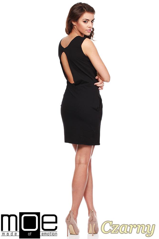 CM1222 Komplet 2 w 1 - sukienka mini + bluzka z dekoltem - czarny