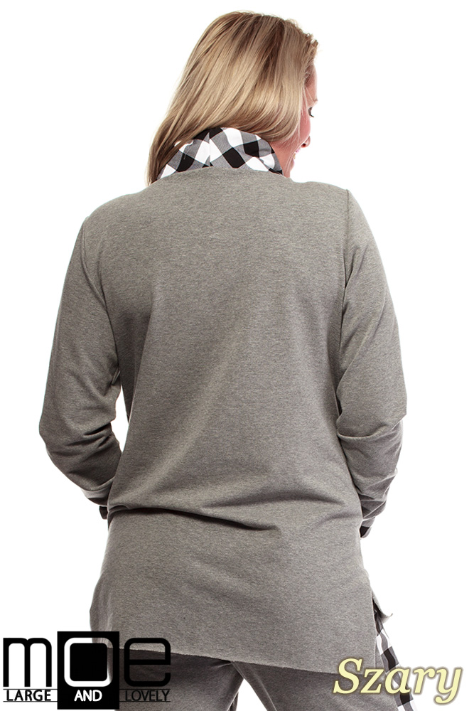 4f5ae4bf9 ... CM1324 Asymetryczna damska bluza dresowa 44-52 - szara