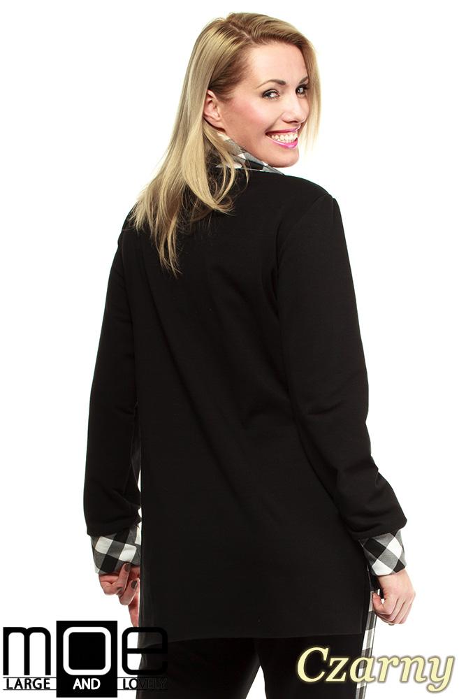 CM1324 Asymetryczna damska bluza dresowa 44-52 - czarna