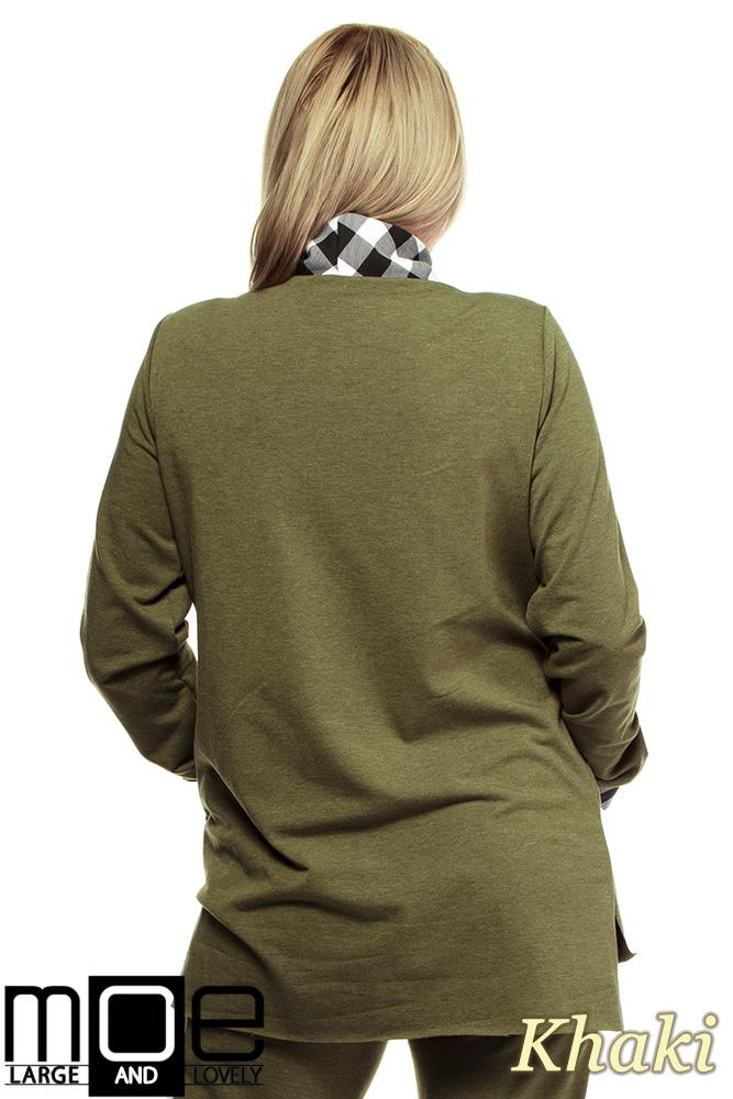 77705431a ... CM1324 Asymetryczna damska bluza dresowa 44-52 - khaki
