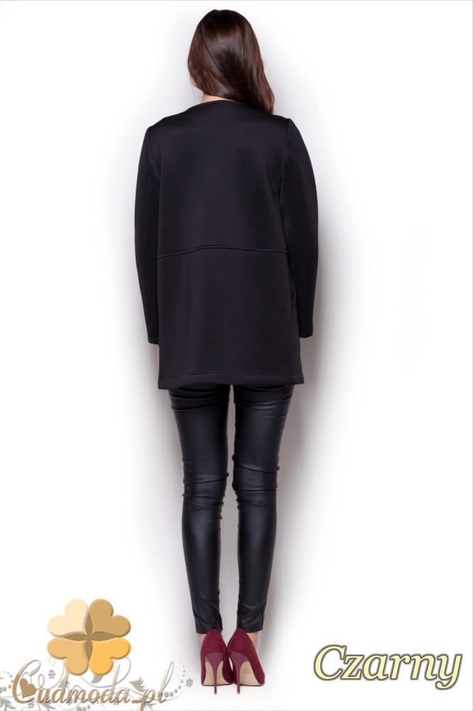 CM1335 Kobieca kurtka-narzutka z pianki - czarna