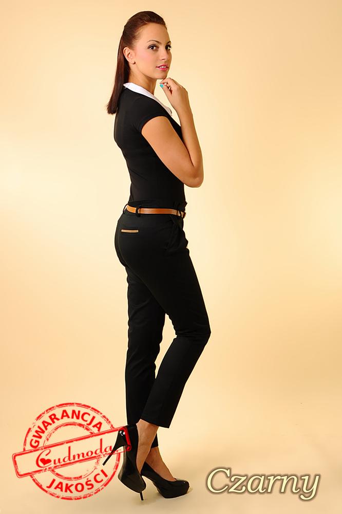 WYCOFANY Spodnie cygaretki - czarne