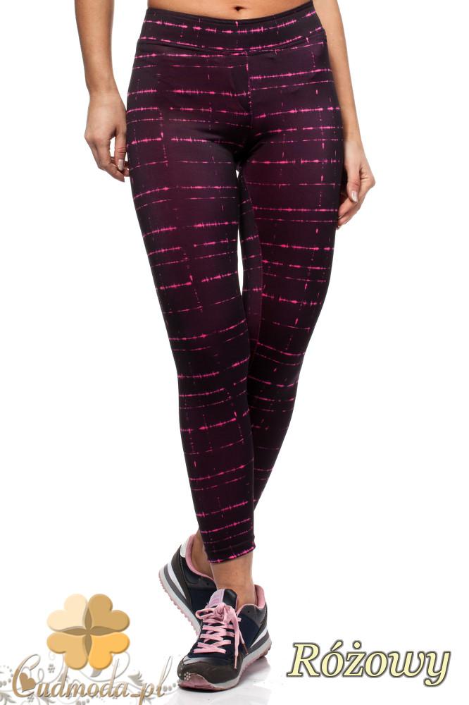 CM1562 Neonowe wyszczuplające legginsy damskie - różowe