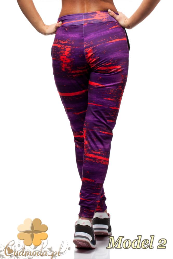 CM1567 Elastyczne sportowe legginsy kobiece - model 2