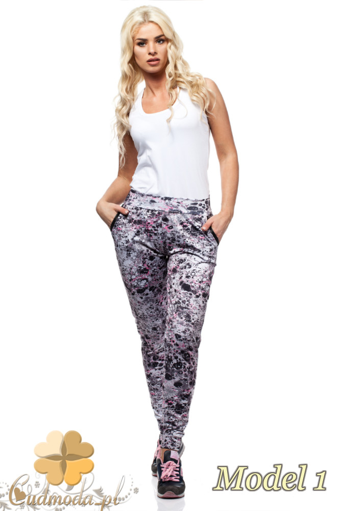 CM1567 Elastyczne sportowe legginsy kobiece - model 1