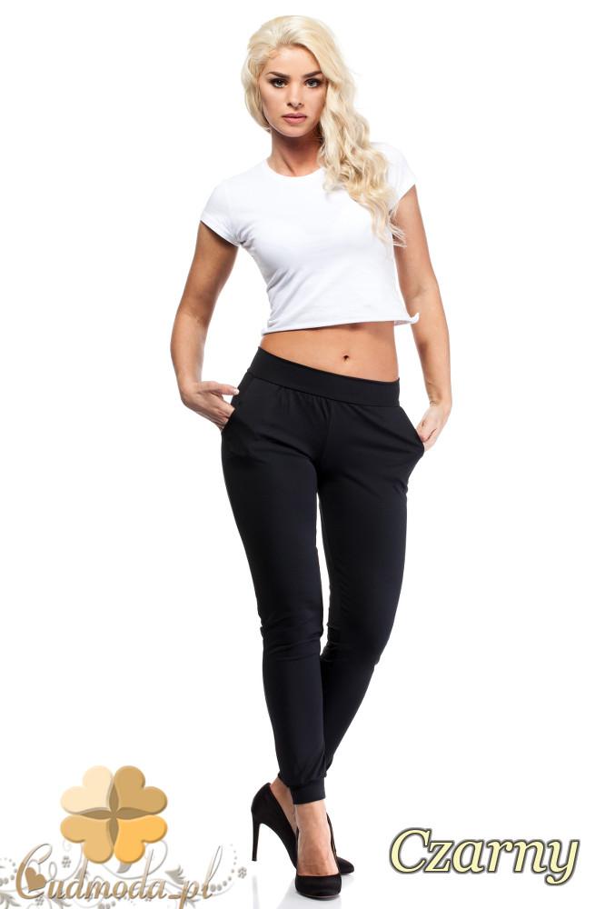 WYCOFANY Wyszczuplające dopasowane spodnie - czarne