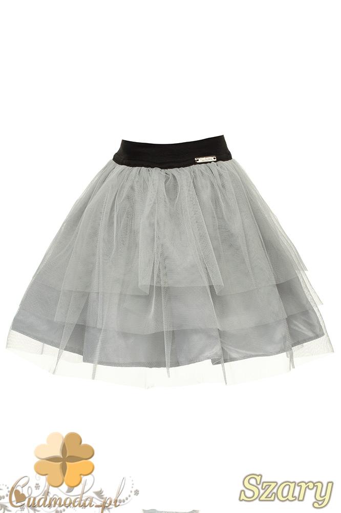 MA049 Tiulowa spódniczka dziecięca baletnica - szara